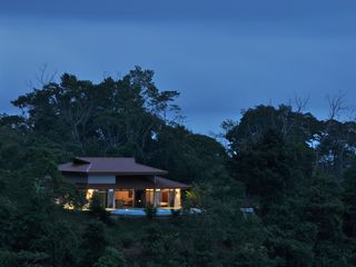 Ojochal villa photo - First light from across the Valley