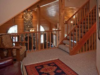 Tahoe Donner cabin photo - Second floor loft. A 52 inch tv on the wall to the right - great theater area