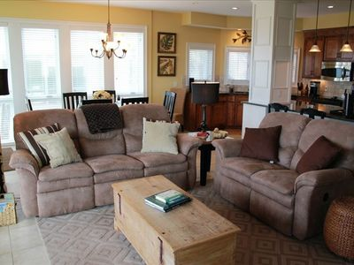 comfy new sofas in family room
