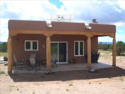 Large Covered Patio w/Gas Grill, Table for Four, & Clear Mountain  & Mesa Views