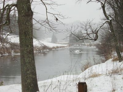 New River Winter View - Entrance to the Community