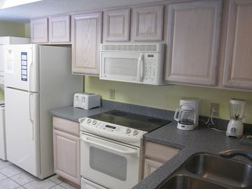 Fully stocked kitchen with all the conveniences of home