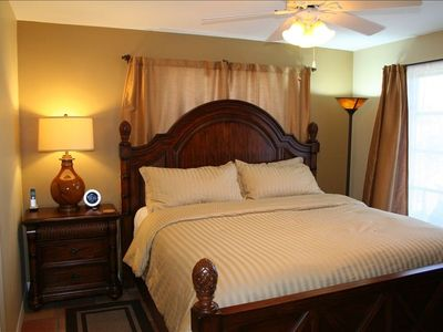 Master Bedroom W/ King Size Bed, Alarm/Radio/CD Player, & 1080P LED LCD TV