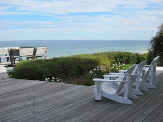 Dennis Village house photo - Deck overlooking Cape Cod Bay