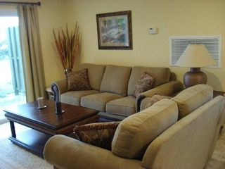 San Salvador condo photo - Living room including queen size Hide-a-bed