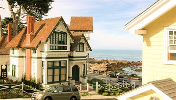 "Pacific Grove house rental - Welcome to ""The Yellow House Guest Suite""! This is the view from the window of the Guest Suite."