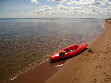 Duluth house rental - Ready to kayak on Lake Superior in the cottage kayak.