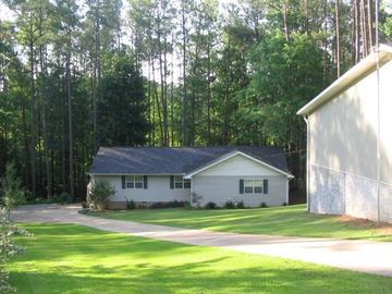 Lake Eufaula / Walter F. George house rental - Front View (3 Car Garage/RV Storage to the Right)