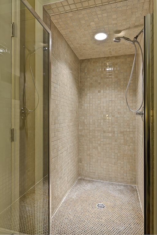 King Suite tiled shower