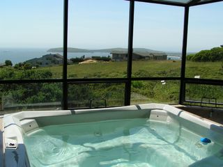 Bodega Bay house photo - Indoor Spa in Solarium with Shower and Views