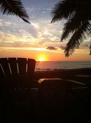 Makaha house photo - A cold one, comfortable chair and a spectacular sunset; life is good!