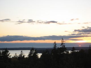 Seal Harbor house photo - Sunset from outside Porch #1