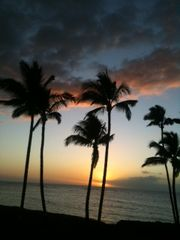 Kihei condo photo - Sunset from the lanai