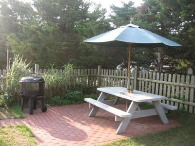 Patio with Table, Gas Grill and Fire Pit Provided