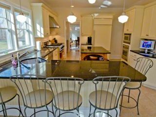 Vineyard Haven house photo - Kitchen Has Granite Countertops, Prep Island & Breakfast Bar