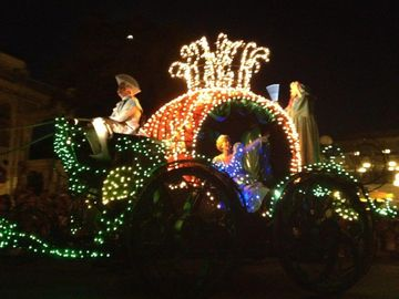 Night time parade in magic kingdom
