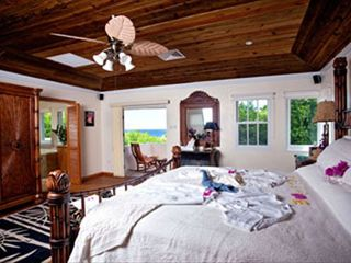 Cap Estate villa photo - Ocean View from Fabulous 5 Star Master Bedroom/Bathroom Honey-Moon Suite