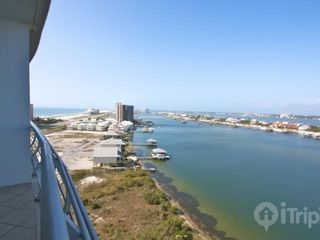 Orange Beach condo photo - View to the west of Old River and the Gulf of Mexico