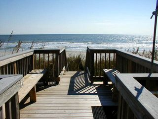 Surfside Beach condo photo - Beach walkover with shower lets you rinse sand off shoes, toys and beach chairs