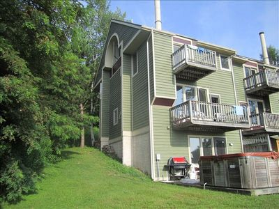 View from Back. Large End Unit with Hot Tub and Great Views of Deep Creek Lake