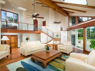 Kahala estate photo - ocean view/livingroom