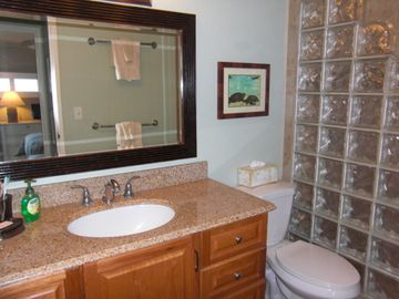 New Master Bath w/ Granite Top & Lots of Storage Space