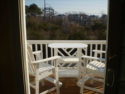 3rd floor deck with great views of O.C.skyline,inlet ,bay and marina`s