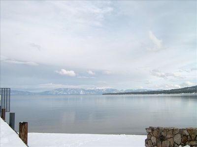 Winter View from Tahoe Pines Private Pier