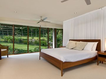Bedroom 4 (upstairs in Pavilion), overlooking gardens