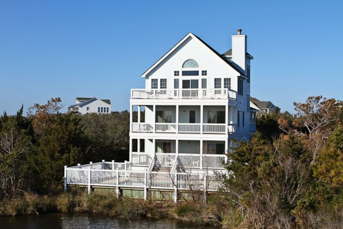 Lady of the lake lakeside with elevator pool hot tub for Hatteras cabins rentals