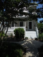 Cape Charles house photo - Front of Peas n Quiet shaded by crape myrtle