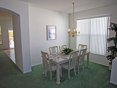 Dining area for 6 or 8, more dining beside kitchen