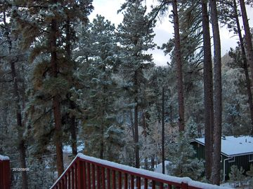 view from front balcony during winter