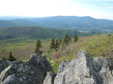 Beautiful view of Beech Mountain from nearby lookout