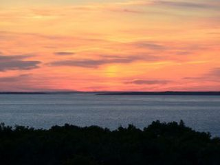 Chilmark house photo - Sunset from the deck-another fabulous day draws to a close