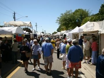Annual Englewood Art show, one of many festivals within walking distance.