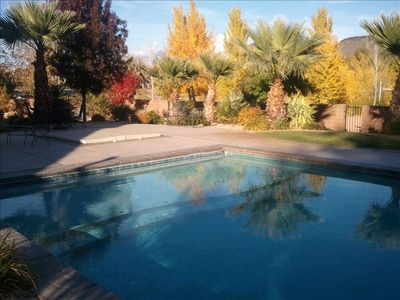 Fall colors around the pool area