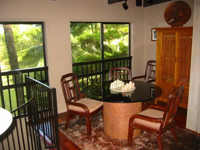 Game Table Area at Top of Spiral Stairs