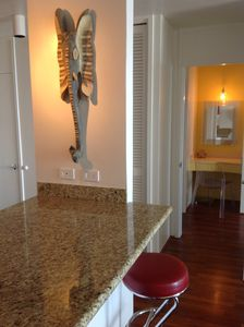 Waikiki condo rental - Elephant on Kitchen patrol to insure you have FUN!
