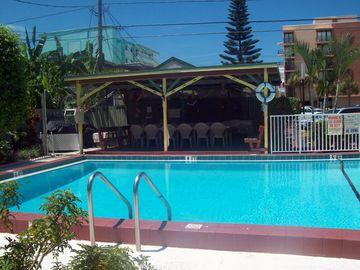 Pool, grills and covered area for all to enjoy