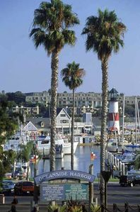 Steps away from the Oceanside Harbor where you can rent boats or surfboards.