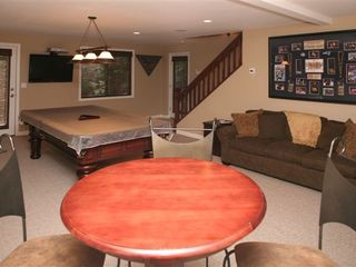 North Conway house photo - Basement/Game Room with walkout to Hot Tub