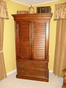Armoire with TV and DVD player