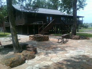 Linwood lodge photo - New patio and bonfire pit
