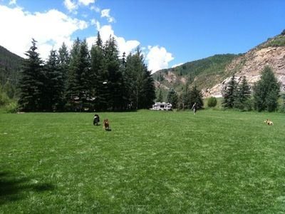 Vail house rental - Stephens Park Off Leash Dog Area, within 4 blocks of home, a favorite of my dog