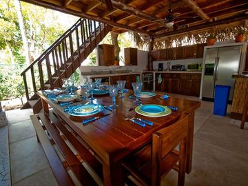 Inside the Rancho is a breakfast area with seating for 8, a bar & full kitchen.