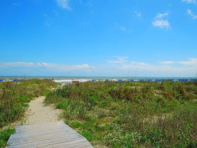 Boardwalk leads directly to ten miles of the beautiful Kiawah Island beach.