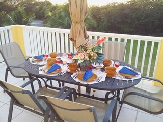 St. Croix house photo - Enjoy a relaxing dinner while watching a beautiful Virgin Island sunset.