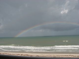 Indian Harbour Beach condo photo - Beautiful rainbows are frequently seen from balcony