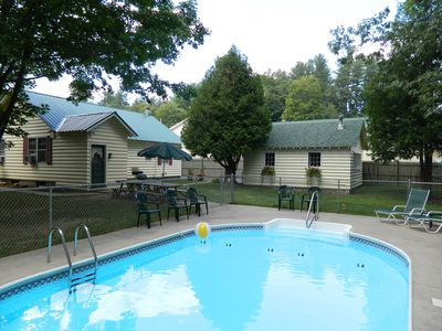 Lake George house rental - Back yard heated, in-ground pool